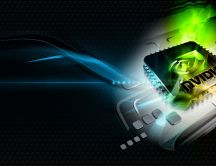 nVidia Windows 7 - Black abstract wallpaper