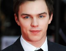 The actor Nicholas Hoult with blue eyes