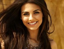 Victoria Justice with a smile on face