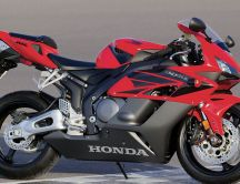 Red and black  Honda CBR1000rr