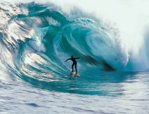 Surfing in the big ocean waves - Sport wallpaper