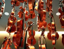 Many violins in the air -  Musical instruments