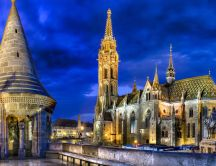 Matthias Church from Budapest in night