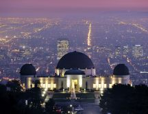 Griffith Observatory from Los Angeles city