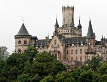 Marienburg Castle from Germany, in the green forest