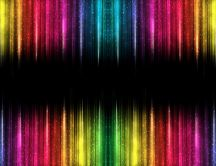 Colorful lights and a black band - Abstract wallpaper