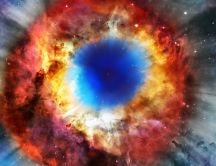 Helix Nebula - Amazing colorful space view