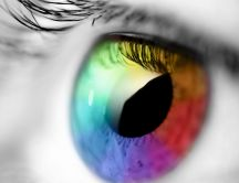 Abstract rainbow eye - HD wallpaper