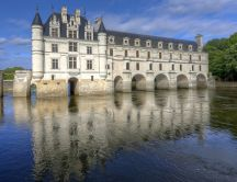 Chenonceaux Castle from France - Building on water