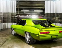 Green Chevrolet Coupe - Old car wallpaper