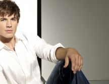 Cool actor, Matt Lanter in white shirt