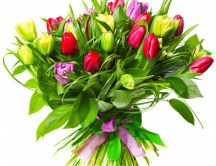 Wonderful bouquet of tulips - Superb flowers