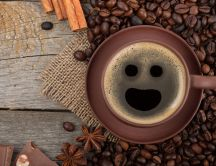 Hallo happy cup of coffee - HD wallpaper