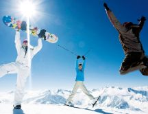 Happiness on the mountain - winter sports