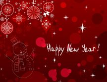 Happy New Year 2016 - Red funny wallpaper