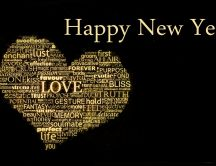 Happy New Year 2016 - love and peace in the world