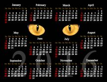 Dark cat - black calendar for 2016