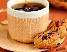 Delicious cookies and special coffee - good morning