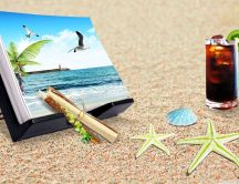 Staffs for beach - juice and photos