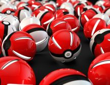 Lots of balls from the game Pokemon GO - HD wallpaper