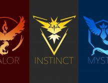 Valor Instinct and Mystic - the three teams from Pokemon GO