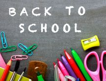 Crayons and stuffs for school - HD wallpaper