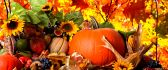 Fruits and vegetables from Autumn season - HD wallpaper