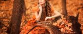 Queen of Autumn season - wonderful dress made from leaves