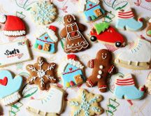 Funny shapes of cookies for Christmas winter Holiday