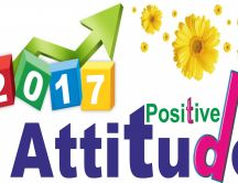 Think positive in the new year 2017 - HD wallpaper