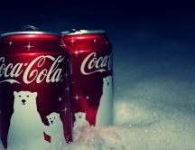 Favourite juice for a cold winter - Coca Cola drink