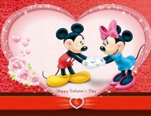Mickey Mouse and Minnie - Happy Valentines Day