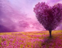 Fantastic purple love tree - Heart shape