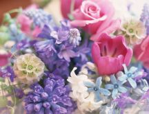 Colorful spring bouquet - Sweet perfume of flowers