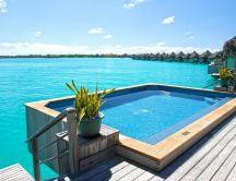 Fantastic summer holiday in Bora Bora - Pool party