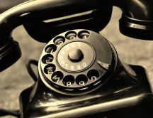 Black old telephone - Sweet communications technology