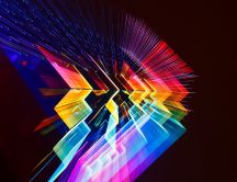 3D digital art - Rainbow colors in a wallpaper