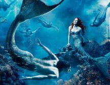 Dance in the water through beautiful mermaids