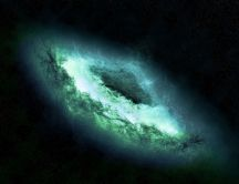 Abstract green galaxy - Wonderful HD wallpaper