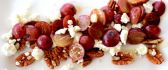 France food - Grapes nuts and cheese - HD wallpaper