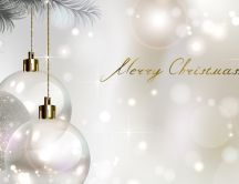 Wonderful silver and white winter holiday - Merry Christmas