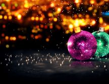 Colorful crystal Christmas balls - Merry Christmas kids