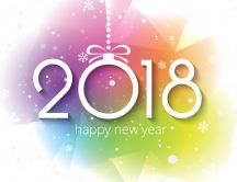 Digital art colorful background - Happy New Year 2018