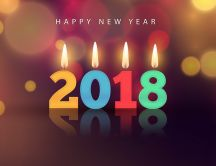 Happy New Year 2018 - Colorful Candles