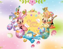 Mickey and Minnie Mouse - Happy Easter Cartoon Holiday