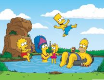 The Simpsons and the lake - Holiday time