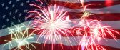Fireworks for a special day in America - Forth July 2018