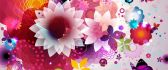 Flower power design - Abstract colorful wallpaper