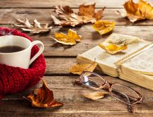 Hot tea and a good old book to read - Autumn staffs