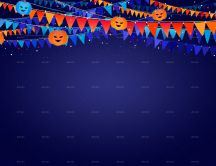 Blue background for the most scary night - Halloween